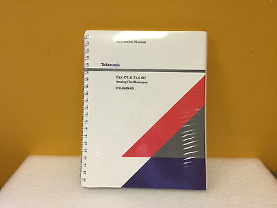 Tektronix 070-8688-05 Tas475 Tas485 Analog Oscilloscope Instruction Manual. New