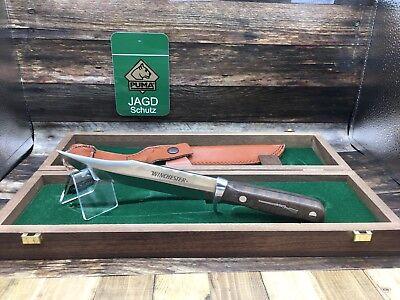 Puma Winchester 100th Anniv. Bowie Knife & Walnut Handles-Mint Presentation Box