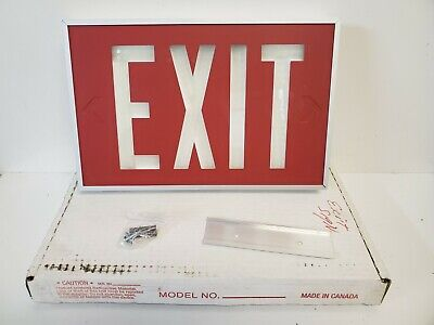 New In Box Isolite Self-luminous Exit Sign 2040-01 2vde4