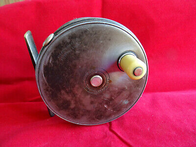 """A VERY GOOD RARE VINTAGE 4 1/4"""" 1920/21 HARDY DUP. MK.2 SALMON PERFECT FLY REEL"""