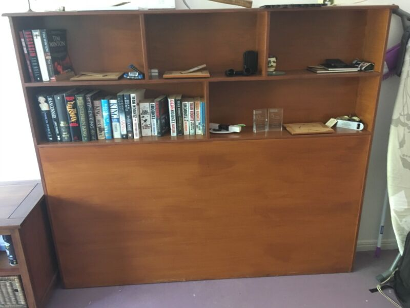 Wall Unit / Shelved Bed Head | Entertainment & TV Units | Gumtree ...