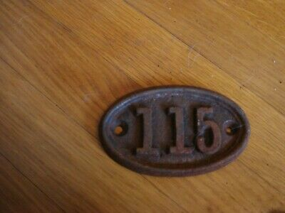 genuine antique vintage cast iron door house train number cottage no 115