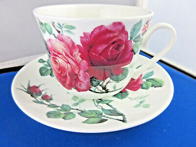 Rose Breakfast Cup - ENGLISH ROSE  BREAKFAST CUP SAUCER KIRKHAM Fine Bone China. MADE IN ENGLAND