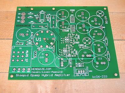 Headwize Stoopid Opamp Hybrid Amplifier Printed Circuit Board Pcb