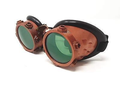 Welding Goggles in Rustic Steampunk Style for Cosplay and Fancy Dress in Copper
