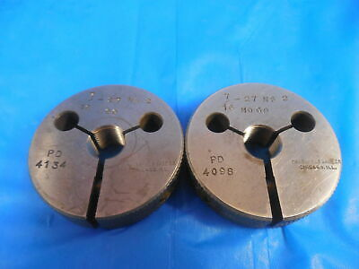 716 27 Ns 2 Thread Ring Gages .4375 Go No Go P.d.s .4134 .4098 Quality