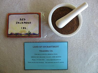 NEW MEXICO  RED JALAPENO CHILE POWDER  1 OZ. Fresh!   US SELLER  FREE SHIPPING