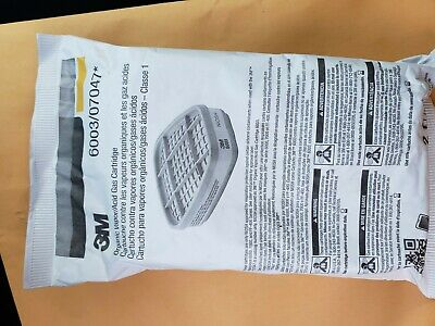 3M 6003 Series Organic Vapor/Acid Gas Cartridge Filters PAIR - 6000/7000 series