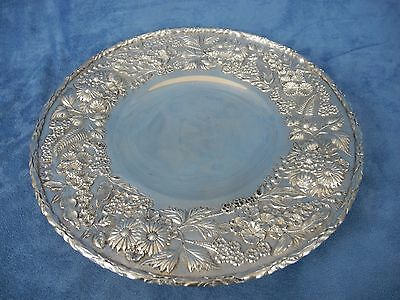 """S. Kirk & Sons Repousse Sterling Silver 10"""" Round Dish"""
