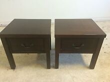 2 X Solid Wood Bedside Tables Dundas Valley Parramatta Area Preview