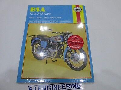 BSA A7 A10 Twins 1947-1962  Haynes Workshop service repair  manual NEW SJ371