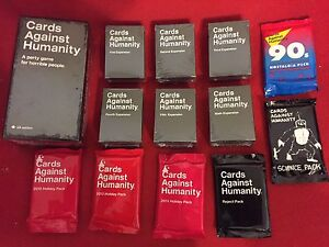 Cards Against Humanity Canadian+1-6 Expansion Packs+6 Bonus.