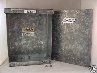 "New Overstock Austin Co Nema 3R Galvanized Electrical Enclosure - 10""x8""x4"""