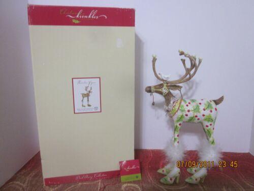 "Dept 56 P Brewster Krinkles Vixen Dash Away Reindeer Figure 12"" 2006"