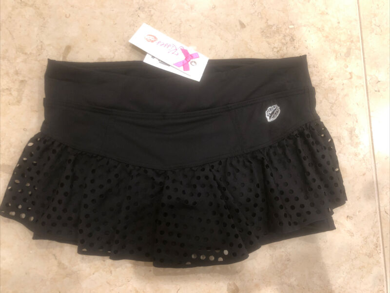 NWT California Kisses Dance Black Laser Cut Short/Skirt Girl