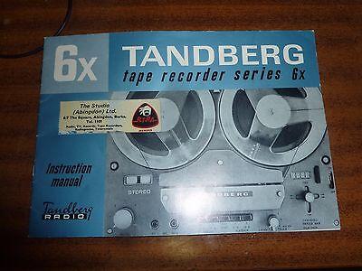 Vintage TANDBURG Tape Recorder Series 6x Instruction Manual