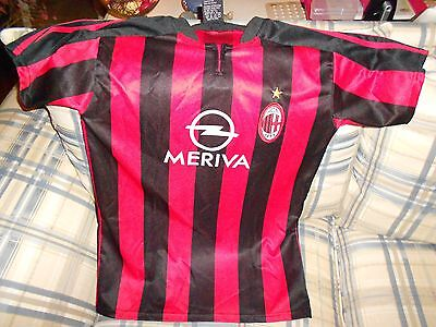 AC Milan red Meriva youth soccer jersey Sz 16
