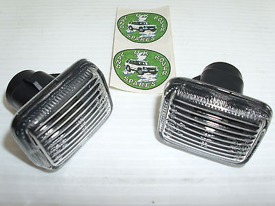 RANGE ROVER P38 CLEAR SIDE REPEATER LAMPS - SIDE INDICATOR LAMPS UPTO 2002