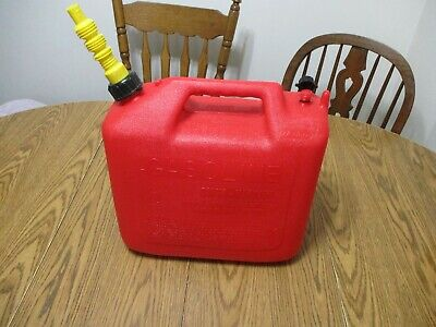 Old School Wedco 5 Gal Gallon Plastic Vented Gas Can Fuel Jug