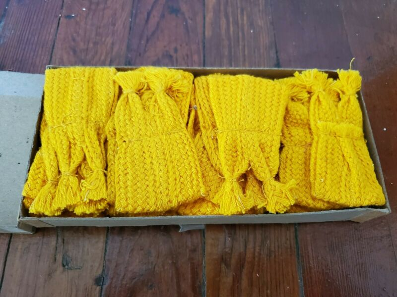 New Old Stock Cub Scout Yellow Tabs for Garters,1960