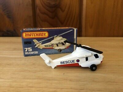 Matchbox #75 Helicopter in box Lesney