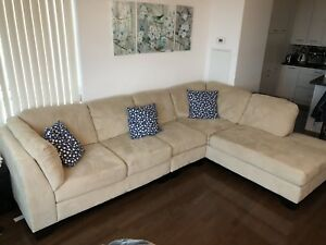 Beige Sectional for sale, L Couch