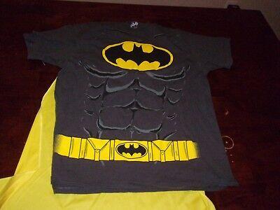Batman used mens medium yellow cape Halloween costume DC comic book movie - Halloween Movie Comic Books