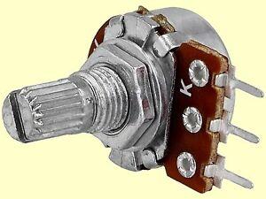 10 St. Poti Potentiometer linear  mono R16  50K 125mW  Achslänge: 9mm NEW