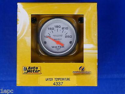Auto Meter 4337 Ultra Lite Electric Water Temperature Gauge Temp 100 - 250 Deg