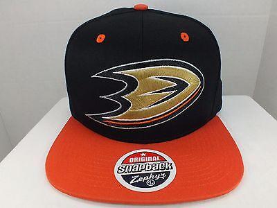 Zephyr Nhl Hut (Anaheim Ducks NHL Retro Logo Schwarz / Orange Snapback Hut Mütze Neu von Zephyr)