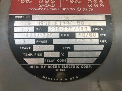 Vintage Delta Rockwell Unisaw Motor 1 12 Hp 3 Phase With 3 Groove Pulley