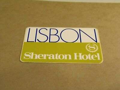 Sheraton Hotel, Lisbon, Portugal Vintage Luggage Label/Sticker La 10/17
