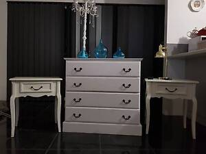 A white chest of drawers and two side tables. Bunbury Bunbury Area Preview