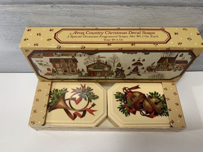 Vintage Avon Country Christmas Fragranced Soap Set New In Box 1982 - Christmas