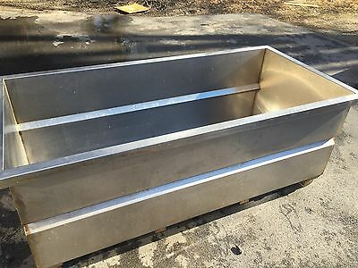 Huge Heavy Gauge Stainless Steel Vat Soak Wash Tub Tank With Outlet Drain 7