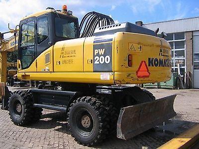 Komatsu PW200-7H & PW 220-7H Wheeled Excavator Workshop Manual