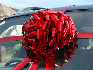 Very big giant car large bike gift bow in shiny metallic - Lazos grandes para regalos ...
