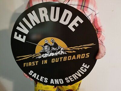 Retro Vintage style Evinrude First In Outboards Motor Advirtising Sign