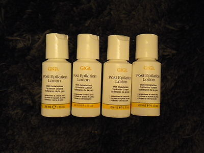 (4) Small 1oz Gigi Post Epilation Lotion Skin moisturizer Travel Size