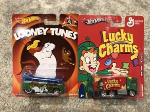 **HOT WHEELS LUCKY CHARMS HIWAY HAULER VW DRAG BUS