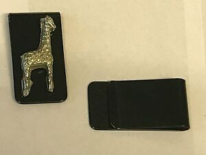 Giraffe TG44 Fine English Pewter on a Money Clip Black