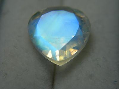 very rare Blue Sheen Moonstone gem natural Madagascar gemstone Pear 3.28cts