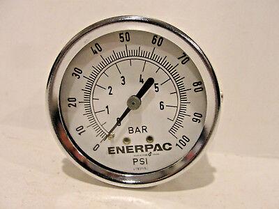 Enerpac Pressure Gauge Dual 0-100 Psi 0-6 Bar Back Center Mount 41801150