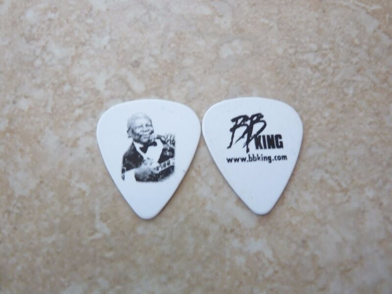 BB King King Of The Blues Music Playing Lucille White Double Sided Guitar Pick
