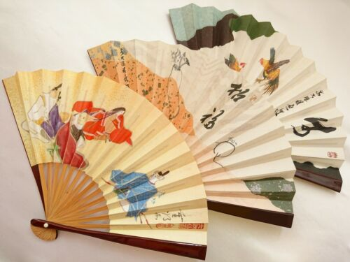 3 SET, Japanese Sensu, Folding fan, Tea ceremony tools, Made in Japan.