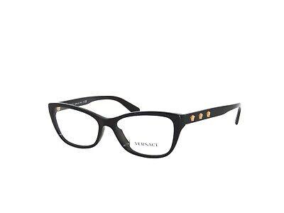 Versace 3249A GB1 54 Black Gold 3249 A Eyeglasses VE3249 Frame