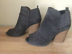 Grey Suede Booties from Vici
