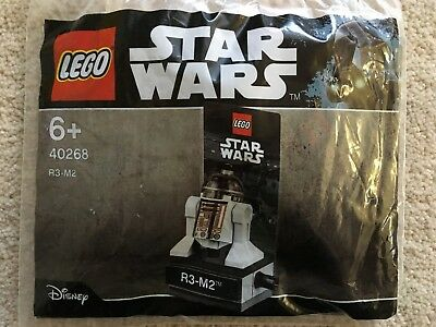 Lego Star Wars R3-M2 astromech droid minifigure 40268 Brand New Sealed Polybag