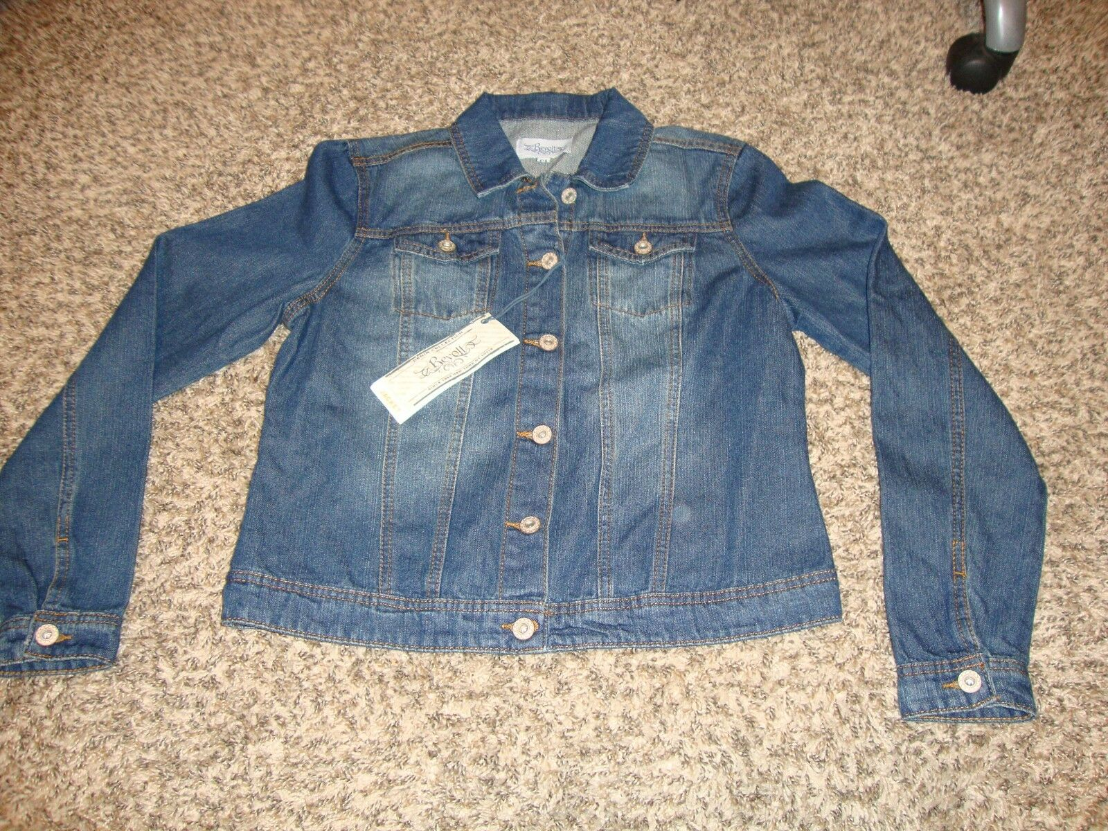 Revolt Denim Blue Jean Jacket, NY Run Way Edition, Size: Med
