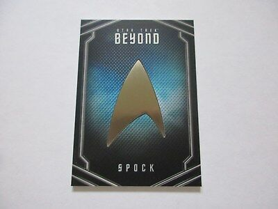 2017 Star Trek Beyond Movie Trading Cards Spock Uniform Pin Badge Relic UB10